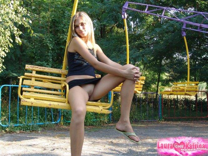 blonde teen flashing outdoor - XVIDEOSCOM