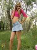 Petite Horny Brunette Stripping In The Woods - Picture 2