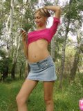 Petite Horny Brunette Stripping In The Woods - Picture 6