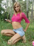Petite Horny Brunette Stripping In The Woods - Picture 7