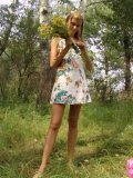 Brunette Teen With Raised Tits Fingering On Woods - Picture 3