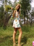 Brunette Teen With Raised Tits Fingering On Woods - Picture 6
