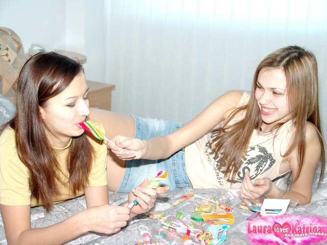 image Lollipop lesbian fun with natasha and lindy