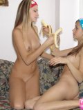 Two Hot Blonde Babes Arousing Each Others Body - Picture 11