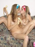 Two Hot Blonde Babes Arousing Each Others Body - Picture 14