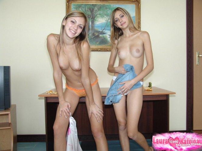 LAURA LOVES KATRINA - Horny Katrina Gently Lickin Lauras Cute Bosom ...