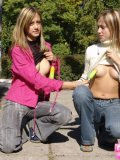 Bestfriends Exposing Fine Tits And Boobs On Park - Picture 7