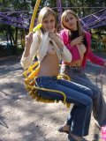 Bestfriends Exposing Fine Tits And Boobs On Park - Picture 10