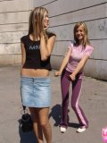 Two Hotties In Air Tight Dress Flashing In Public - Picture 3