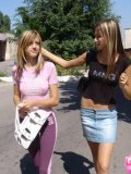 Two Hotties In Air Tight Dress Flashing In Public - Picture 4