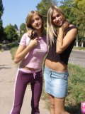 Two Hotties In Air Tight Dress Flashing In Public - Picture 12