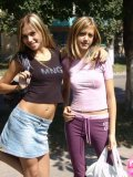 Two Hotties In Air Tight Dress Flashing In Public - Picture 14