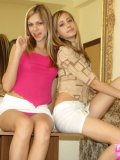 Alluring Blonde Teenagers Lickin On Lollipop - Picture 2