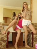 Alluring Blonde Teenagers Lickin On Lollipop - Picture 7